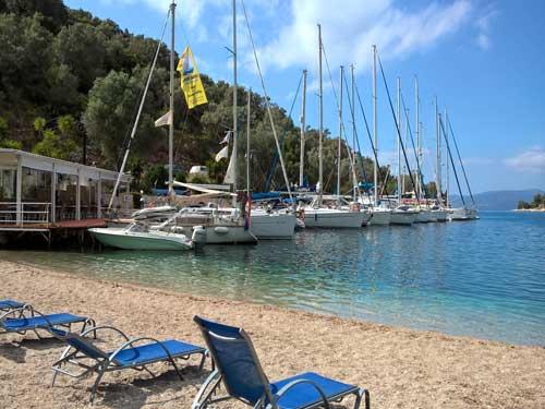 Flottielje zeilen in Griekenland vanuit Lefkas en Corfu