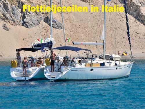 Een zeilboot huren voor flottielje zeilen in Italie