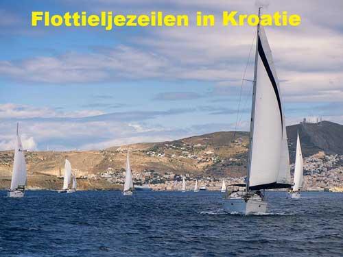 Een zeilboot huren voor flottielje zeilen in Kroatie