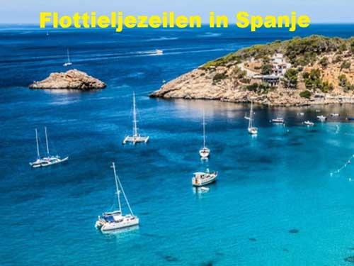 Een zeilboot huren voor flottielje zeilen in Spanje