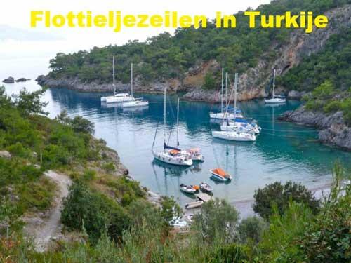 Een zeilboot huren voor flottielje zeilen in Turkije