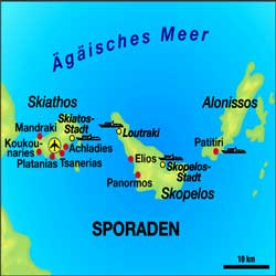 Een zeilboot huren in de Sporaden vanuit Volos en Skiathos.