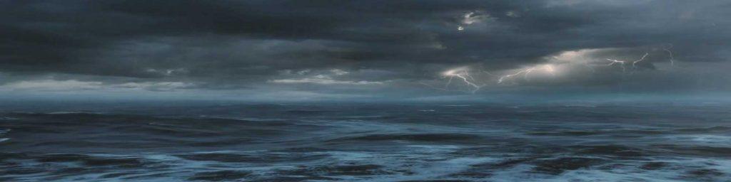 Storm in de Golf van Biscaje