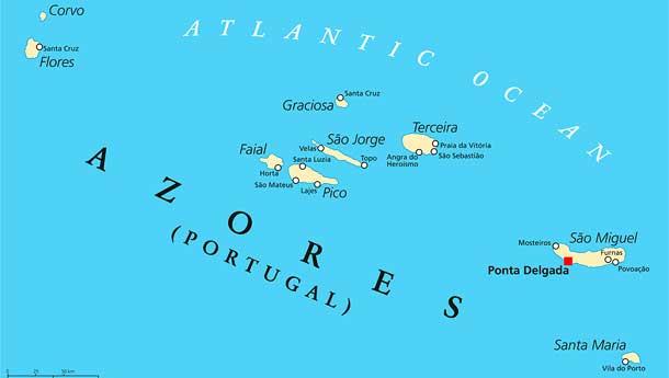 Een zeilboot huren in de Azoren vanuit Ponta Delgada op Sao Miguel, Horta op Faial en vanuit Angra do Heroísmo op Terceira.