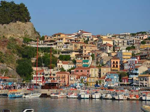 Het moiie plaatsje Parga op het vaste land van Griekenland