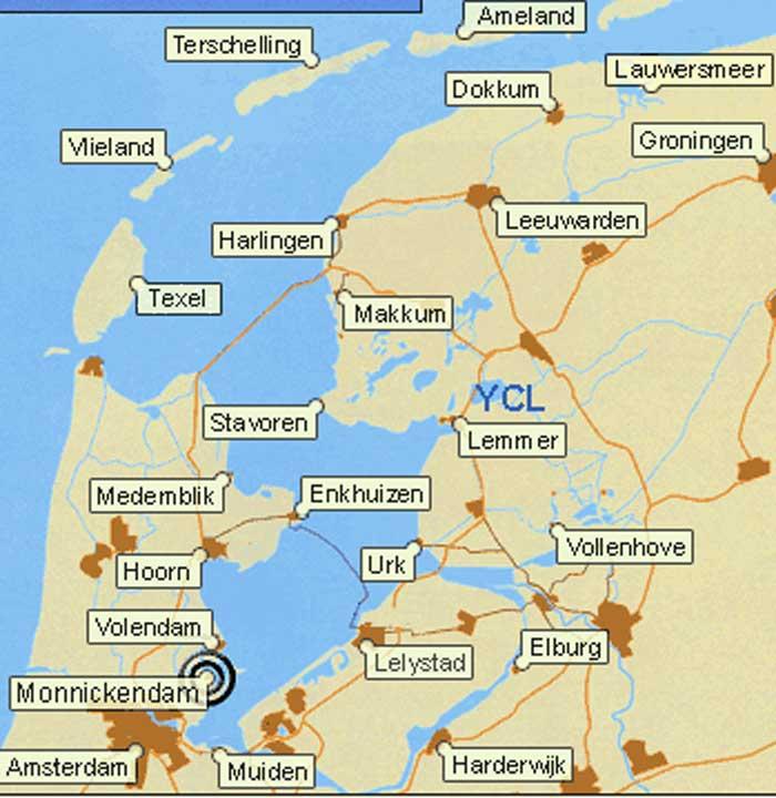 Flottielje zeilen in Nederland vanuit Lemmer